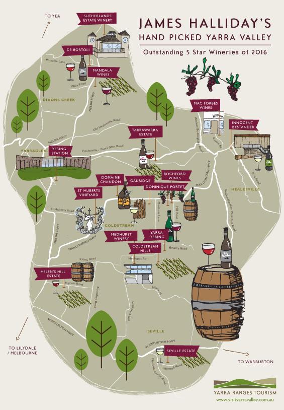 Yarra Valley Map Yarra Valley Wine Map Yarra Valley Map